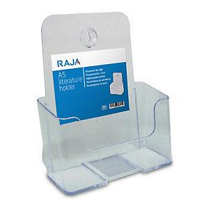 RAJA Portadepliant da tavolo, 1 scomparto, 16,7 x 9,5 x 20 cm (A5), Trasparente