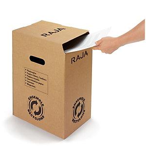 RAJA Poubelle de tri du papier - En carton - 20 litres