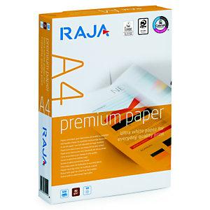 RAJA Premium Papel Multifunción para Faxes, Fotocopiadoras, Impresoras Láser e Impresoras de Inyección de Tinta Blanco A4 80 g/m²