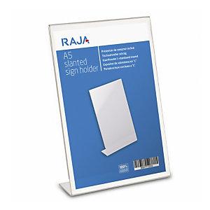 RAJA Présentoir de table incliné  - Format A5  transparent