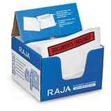 RAJA printed document enclosed envelope labels