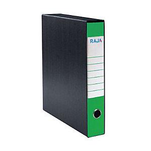 RAJA Registratore archivio Classic, Formato Commerciale, Dorso 5 cm, Cartone, Verde