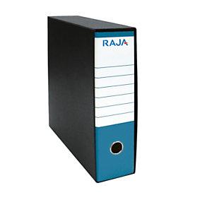 RAJA Registratore archivio Classic, Formato Commerciale, Dorso 8 cm, Cartone, Azzurro