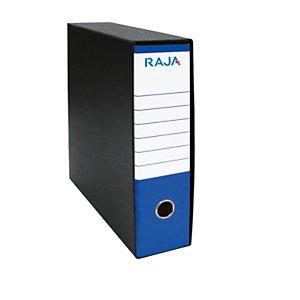 RAJA Registratore archivio Classic, Formato Commerciale, Dorso 8 cm, Cartone, Blu