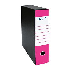 RAJA Registratore archivio Classic, Formato Commerciale, Dorso 8 cm, Cartone, Fucsia