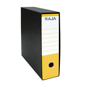 RAJA Registratore archivio Classic, Formato Commerciale, Dorso 8 cm, Cartone, Giallo