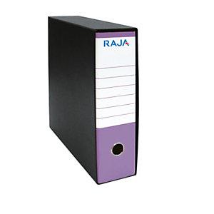 RAJA Registratore archivio Classic, Formato Commerciale, Dorso 8 cm, Cartone, Lilla