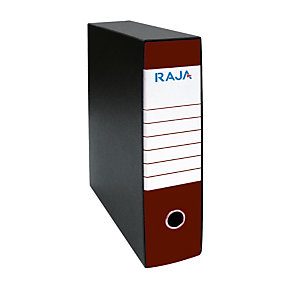 RAJA Registratore archivio Classic, Formato Commerciale, Dorso 8 cm, Cartone, Rosso Marsala