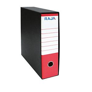 RAJA Registratore archivio Classic, Formato Commerciale, Dorso 8 cm, Cartone, Rosso