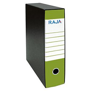 RAJA Registratore archivio Classic, Formato Commerciale, Dorso 8 cm, Cartone, Verde Pistacchio