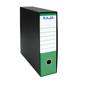 RAJA Registratore archivio Classic, Formato Commerciale, Dorso 8 cm, Cartone, Verde