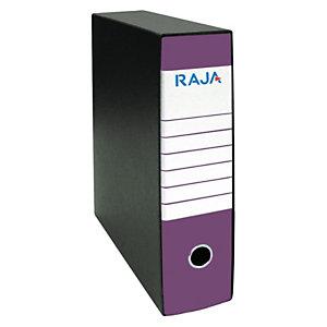 RAJA Registratore archivio Classic, Formato Commerciale, Dorso 8 cm, Cartone, Viola