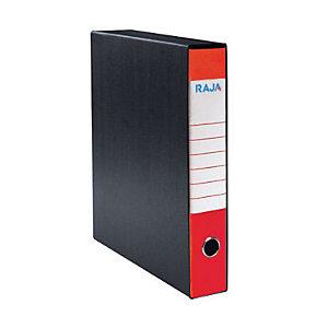 RAJA Registratore archivio Classic, Formato Protocollo, Dorso 5 cm, Cartone, Rosso