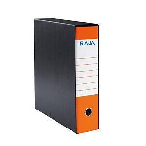RAJA Registratore archivio Classic, Formato Protocollo, Dorso 8 cm, Cartone, Arancio