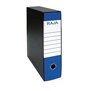 RAJA Registratore archivio Classic, Formato Protocollo, Dorso 8 cm, Cartone, Blu