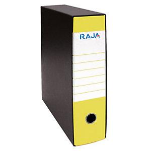 RAJA Registratore archivio Classic, Formato Protocollo, Dorso 8 cm, Cartone, Giallo