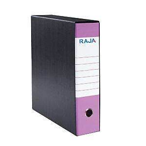 RAJA Registratore archivio Classic, Formato Protocollo, Dorso 8 cm, Cartone, Lilla