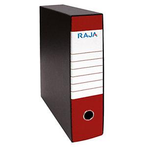 RAJA Registratore archivio Classic, Formato Protocollo, Dorso 8 cm, Cartone, Rosso