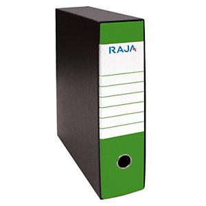 RAJA Registratore archivio Classic, Formato Protocollo, Dorso 8 cm, Cartone, Verde