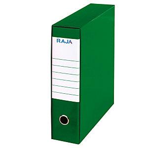 RAJA Registratore archivio Color, Formato Commerciale, Dorso 8 cm, Cartone, Verde