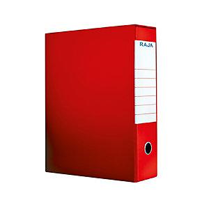 RAJA Registratore archivio Color, Formato Protocollo, Dorso 8 cm, Cartone, Rosso