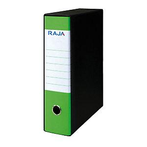 RAJA Registratore archivio Fluo, Formato Commerciale, Dorso 8 cm, Cartone, Verde fluo
