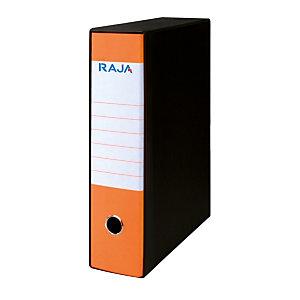 RAJA Registratore archivio Fluo, Formato Protocollo, Dorso 8 cm, Cartone, Arancio Fluo