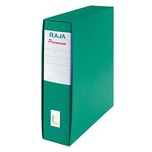 RAJA Registratore archivio Premium, Formato Commerciale, Dorso 8 cm, Cartone plastificato, Verde