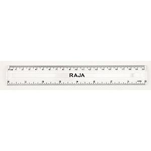 RAJA Regla, 20cm/8pulgadas, transparente