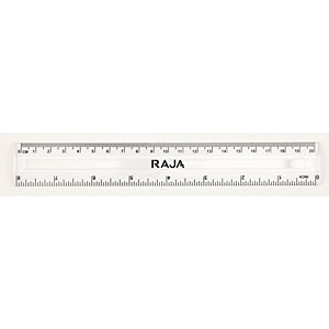 RAJA Righello, 20 cm/8 pollici, Trasparente