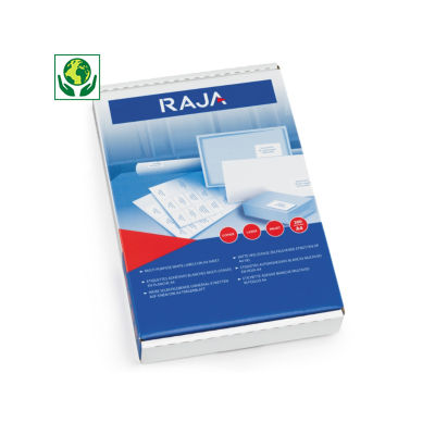 RAJA rounded corner laser labels