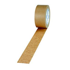 RAJA Ruban adhésif d'emballage en papier kraft 57 g/m² 50 mm x 50 m - Brun