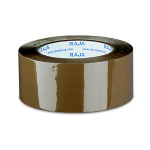 RAJA Ruban adhésif d'emballage résistant en polypropylène silencieux 35 microns 50 mm x 100 m - Havane