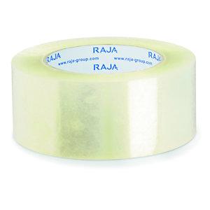 RAJA Ruban adhésif d'emballage résistant en polypropylène silencieux 35 microns 50 mm x 100 m - Transparent