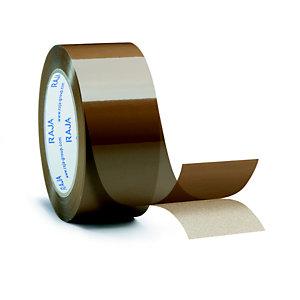 RAJA Ruban adhésif d'emballage standard en polypropylène 28 microns 48 mm x 100 m - Havane
