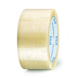 RAJA Ruban adhésif d'emballage standard en polypropylène 28 microns 48 mm x 100 m - Transparent