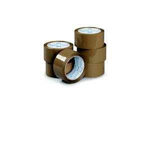 RAJA Ruban adhésif d'emballage standard en polypropylène 28 microns 48 mm x 66 m - Havane