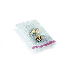 RAJA Sachet bulles avec rabat adhésif repositionnable - 8 x 10 cm - Paquet de 600 - Transparent