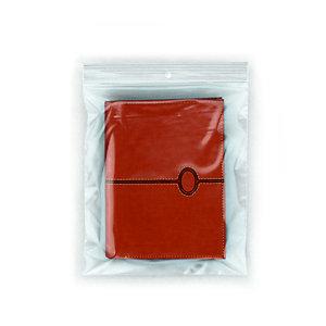 RAJA Sachet plastique à fermeture Zip - 15 x 18 cm - Epaisseur 50 microns - Transparent