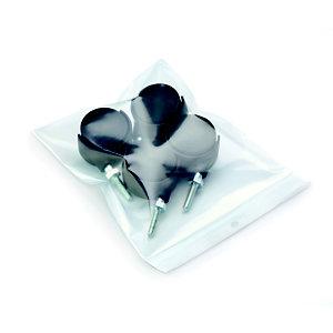 RAJA Sachet plastique à fermeture Zip - 18 x 25 cm - Epaisseur 50 microns - Transparent