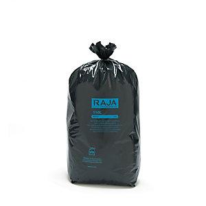 RAJA Sacs poubelle recyclés à usage intensif 110 L - 55 microns - Diamètre 44.6 x H.110 cm - Noir