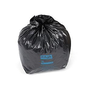 RAJA Sacs poubelle recyclés à usage intensif 50 L - 45 microns diamètre 43.3 x H.80 cm - Noir