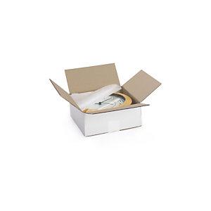 RAJA Scatola cartone onda singola, 39,5 x 29,5 x 25 cm, Bianco (confezione 25 pezzi)