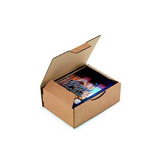RAJA Scatola postale cartone onda singola, 20 x 14 x 7,5 cm, Chiusura ad incastro, Avana (confezione 50 pezzi)