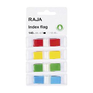RAJA Segnapagina Index, 11 x 43 mm, Colori assortiti (confezione 4 pezzi)