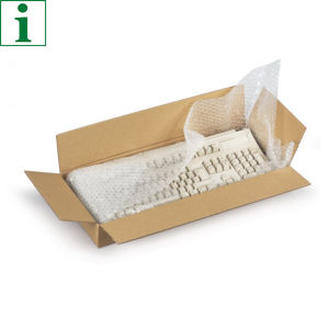Flat cardboard boxes offer excellent protection for more delicate goods