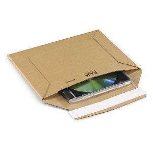 RAJA Sobre de cartón rígido con cierre adhesivo, 224 x 160 mm, paquete 100 unid
