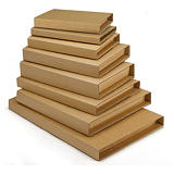 RAJA standard brown panel wrap book boxes with an adhesive strip