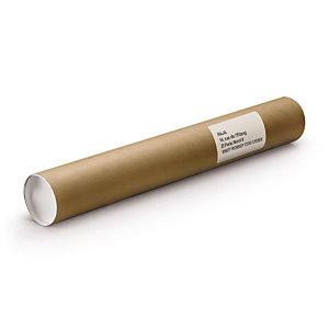 RAJA Tube d'expédition rond en carton brun avec capuchons - Diamètre 60 x L.640 mm