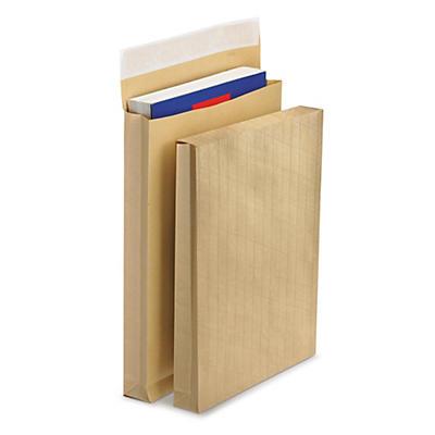 RAJAFIL Fadenverstärkte Versandtaschen mit Seitenfalten, braun